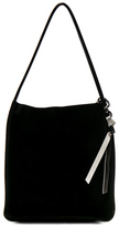 Proenza Schouler Extra Large Suede Tote in Black.