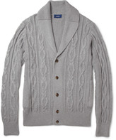 Façonnable Cable-Knit Cotton and Cashmere-Blend Cardigan