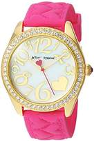 Betsey Johnson Women's Quartz Metal and Silicone Casual Watch, Color:Pink (Model: BJ00048-200)