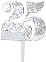 Lillian Rose 25th Anniversary Cake Topper