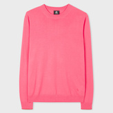 Paul Smith Men's Pink Merino Wool Sweater With Contrast Cuff Tipping