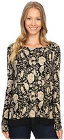 Lucky Brand Floral Printed Pullover Sweater