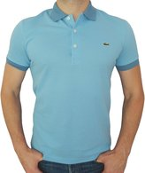 Lacoste Mens Regular Fit Mesh Solid Contrast Collar Polo T-shirt