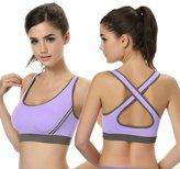 Laimeng Women Padded Bra Top Athletic Vest Gym Fitness Sports Yoga Stretch (L, )