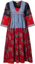 Ulla Johnson V-Neck Embroidered Hem Midi Dress