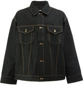 Facetasm stitching detail shirt jacket - men - Cotton/Wool - 3