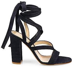 Gianvito Rossi Women's Denim Lace-Up Gladiator Sandals