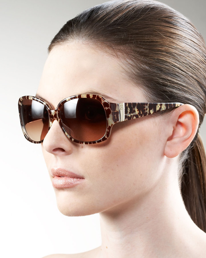 Diane von Furstenberg Animal-Print Sunglasses