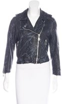 Doma Distressed Leather Jacket