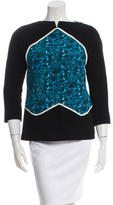 Vionnet Silk Printed Long Sleeve Top