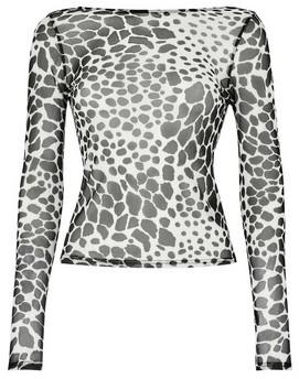 Dorothy Perkins Womens **Lola Skye Black Animal Print Scoop Top, Animal