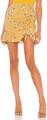 MinkPink Maggie Ruched Mini Skirt