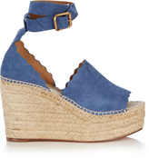 Chloé Lauren suede espadrille wedge sandals