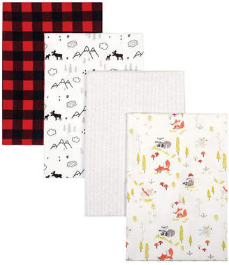 Trend Lab Buffalo Check Woodland Flannel Receiving Blanket 4-Pack Bedding