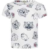 Kenzo KidsBaby Girls White Tiger Friends Dora Top