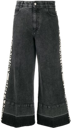 Stella McCartney Logo-Stripe Wide-Leg Jeans