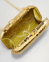 Kotur Margo Snake-Embossed Minaudiere, Gold