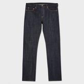 Paul Smith Men's Straight-Fit Indigo Raw Selvedge Denim Red Ear Jeans