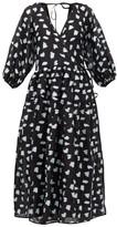 Cecilie Bahnsen - Regitze Fil-coupe Wrap Dress - Womens - Black Multi