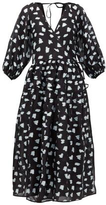 Cecilie Bahnsen Regitze Fil-coupe Wrap Dress - Black Multi