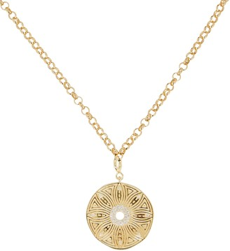 ela rae Flower Medallion Pendant Necklace