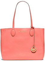 MICHAEL Michael Kors Mae Large Bicolor Tote Bag, Pink Grapefruit/Gold