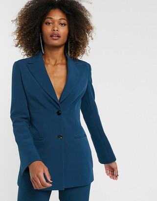 ASOS DESIGN pop suit blazer in teal
