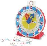 Melissa & Doug Wooden Turn & Tell Clock