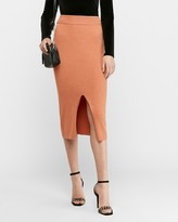 Express High Waisted Ribbed Sweater Pencil Skirt