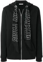 Givenchy zipped front hoodie