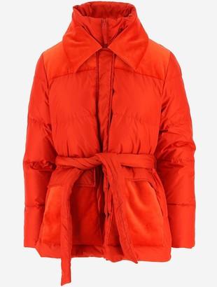 Aspesi Red Women's Down Jacket w/Belt