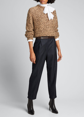 Brunello Cucinelli Mohair Sequined Pullover Sweater