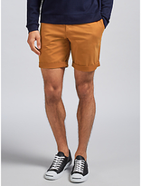 J. Lindeberg Nathan Slim Fit Super Satin Shorts, Rust