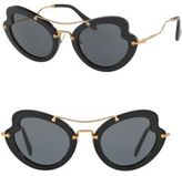 Miu Miu 52MM Curved Cat's-Eye Sunglasses