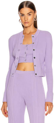 Dion Lee Pinnacle Pleat Cardigan in Violet | FWRD
