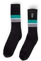 HUF 1984 Stripe Crew Sock Black