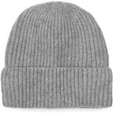 Topman Grey Lambswool Beanie Hat