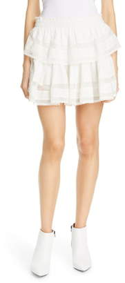 LoveShackFancy Tiered Ruffle Miniskirt