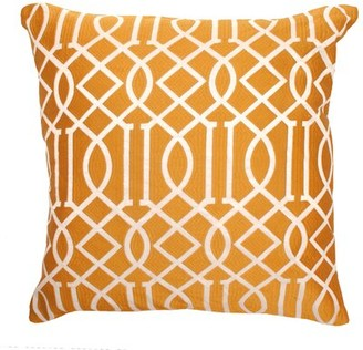 Divine Home Vail Trellis Indoor/Outdoor Throw Pillow Color: Orange
