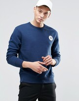Converse Chuck Patch Crew Sweatshirt In Blue 10002133-A03