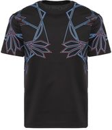 Les Hommes Abstract Floral Print T-shirt
