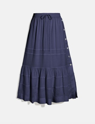 Coach Stripe Tiered Skirt