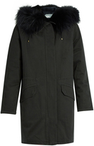 Yves Salomon Fur-lined cotton canvas parka