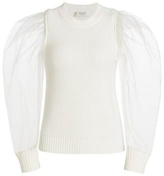 Sea James Organza Sleeve Sweater