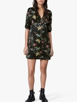 AllSaints Kota Evolution Floral Print Mini Dress