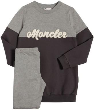 Moncler Cotton Fleece Sweatshirt And Leggins