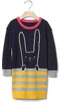Gap Intarsia bunny sweater dress