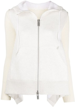 Sacai Zip-Through Hooded Cardigan