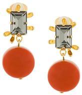 Marni resin pendant clip-on earrings
