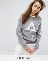 Le Coq Sportif Exclusive To ASOS Flocked Logo Sweatshirt In Gray